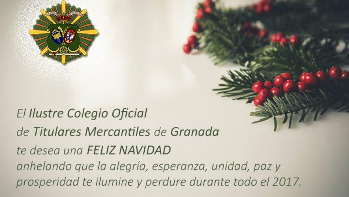 Felices Fiestas desde el Ilustre Colegio Oficial de Titulares Mercantiles de Granada